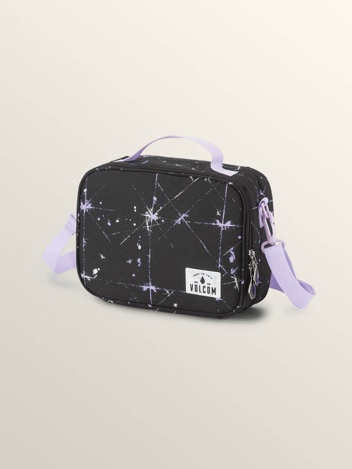 Volcom Girls Brown Bag Lunchbox In Blurred Violet