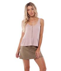Rhythm Ladies My Peplum Top In Blush