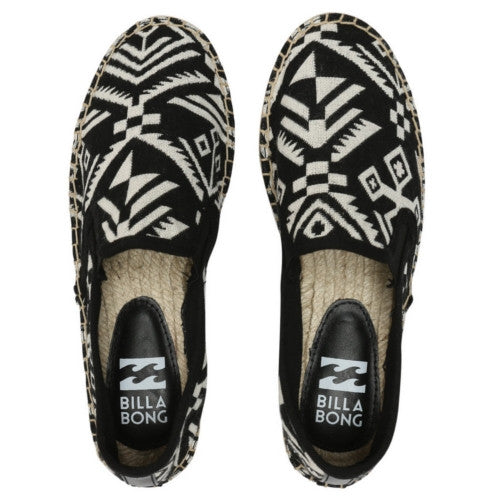 Billabong Ladies  Playa Del Ola Shoe Black and White