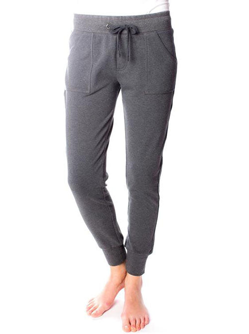 ORB Ladies Linden Stretch Fleece Slim Jogger In Charcoal