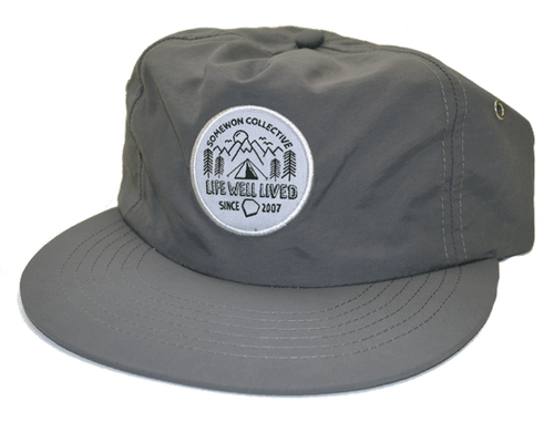 Somewon Collective Camp SMWN Cap In Grey