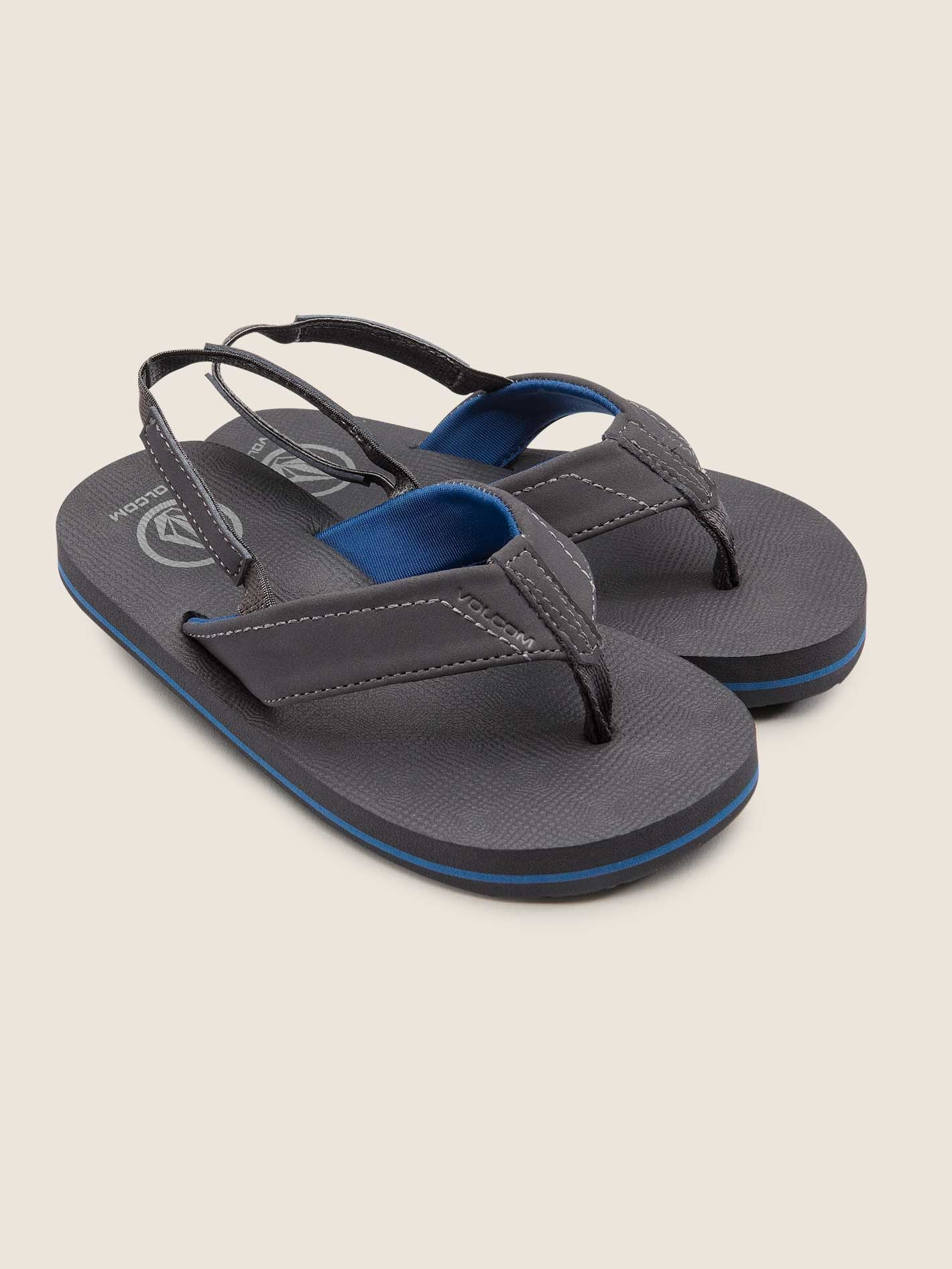 0394a2fca680c6 Volcom Boys Victor Sandals Little Youth In Gunmetal Grey – Current ...