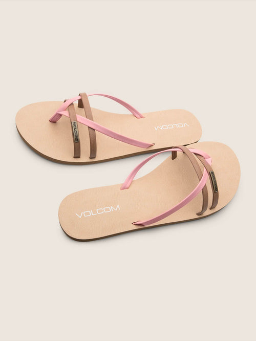 Volcom Ladies Lookout 2 Sandals In Coral