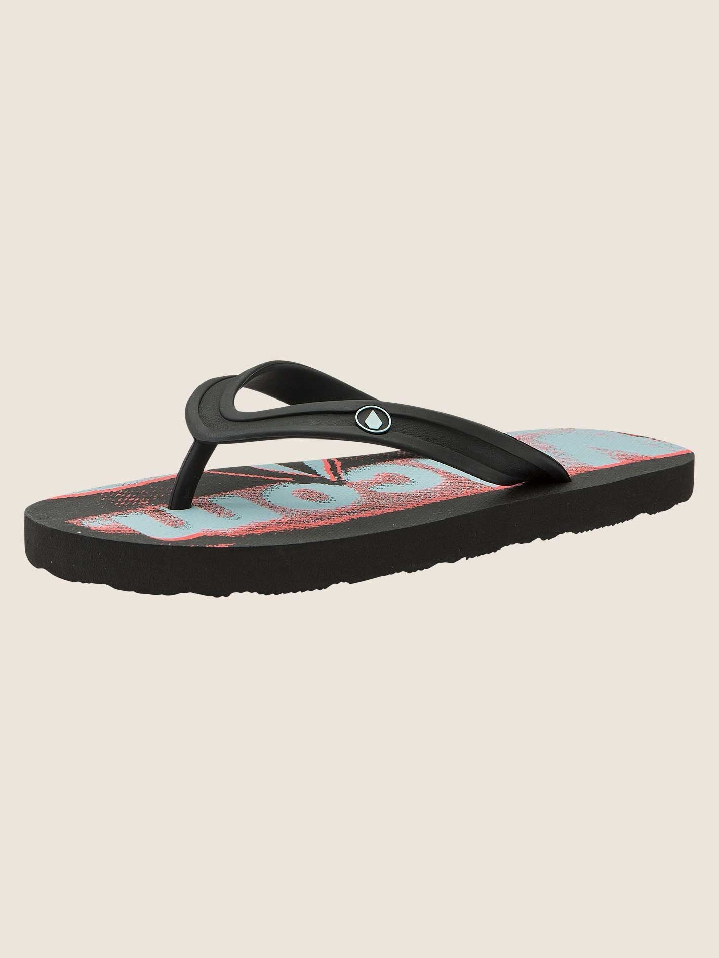 Volcom Boys Rocker 2 Sandals Big Youth In Electric Coral