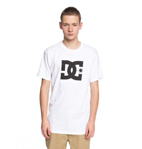 DC Mens DC Star SS Tee Shirt In Snow White