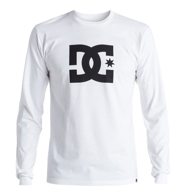 DC Mens Star LS Long Sleeve Shirt White
