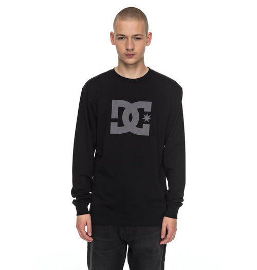 DC Mens Star LS Shirt In Black