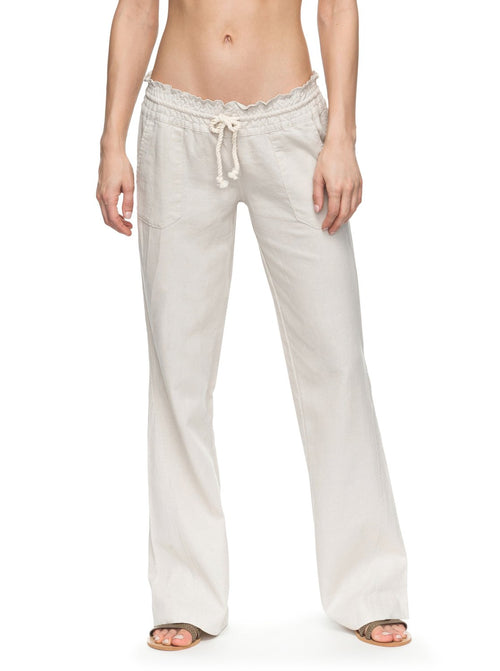 Roxy Ladies Oceanside Pant In Stone