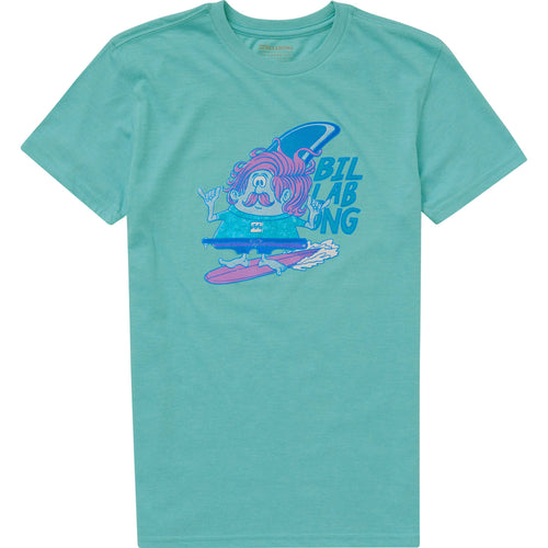 Billabong Boys Finny Tee Shirt In Aqua