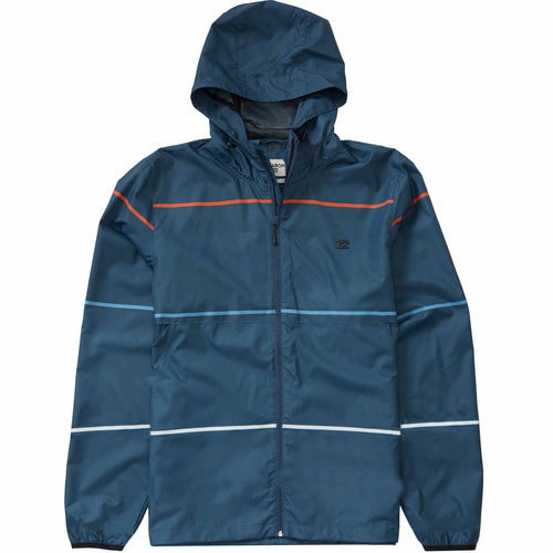 Billabong Boys Transport Windbreaker Jacket Navy