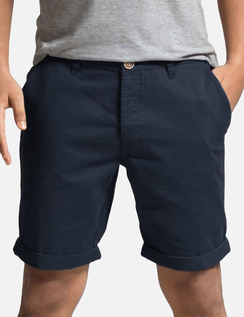 Olgyn Mens Chino Shorts In Navy