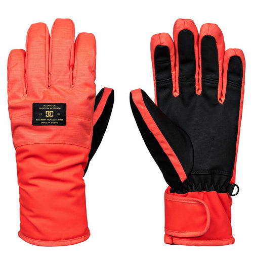 DC Ladies Franchise Snow Glove in Fiery Coral