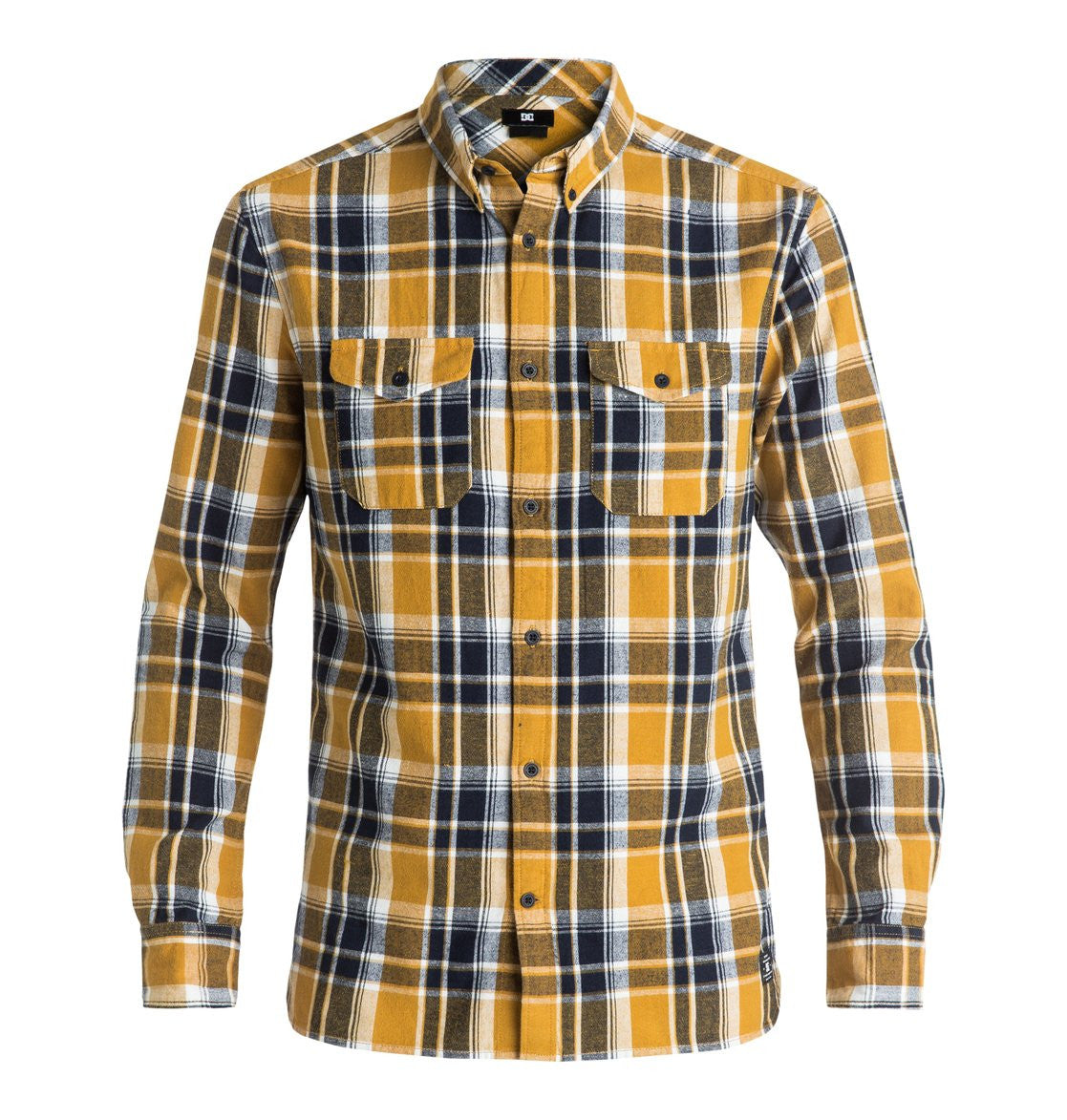 DC Mens Reedsbirg LS Button Up Shirt Amber Gold