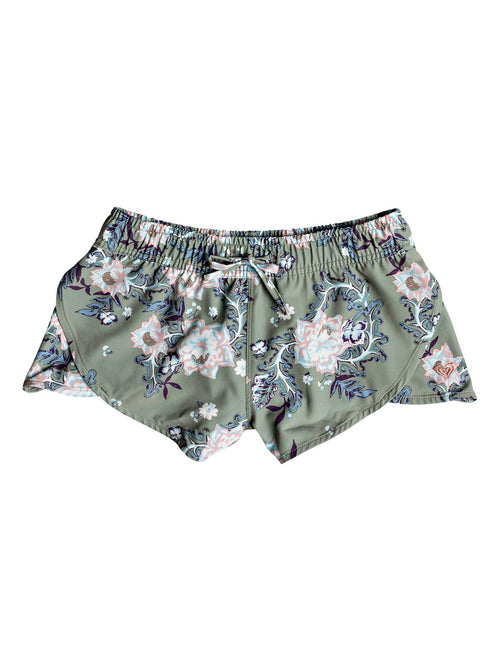 Roxy Girls Sonora Beauty Boardshort In Olive Arizona Rising