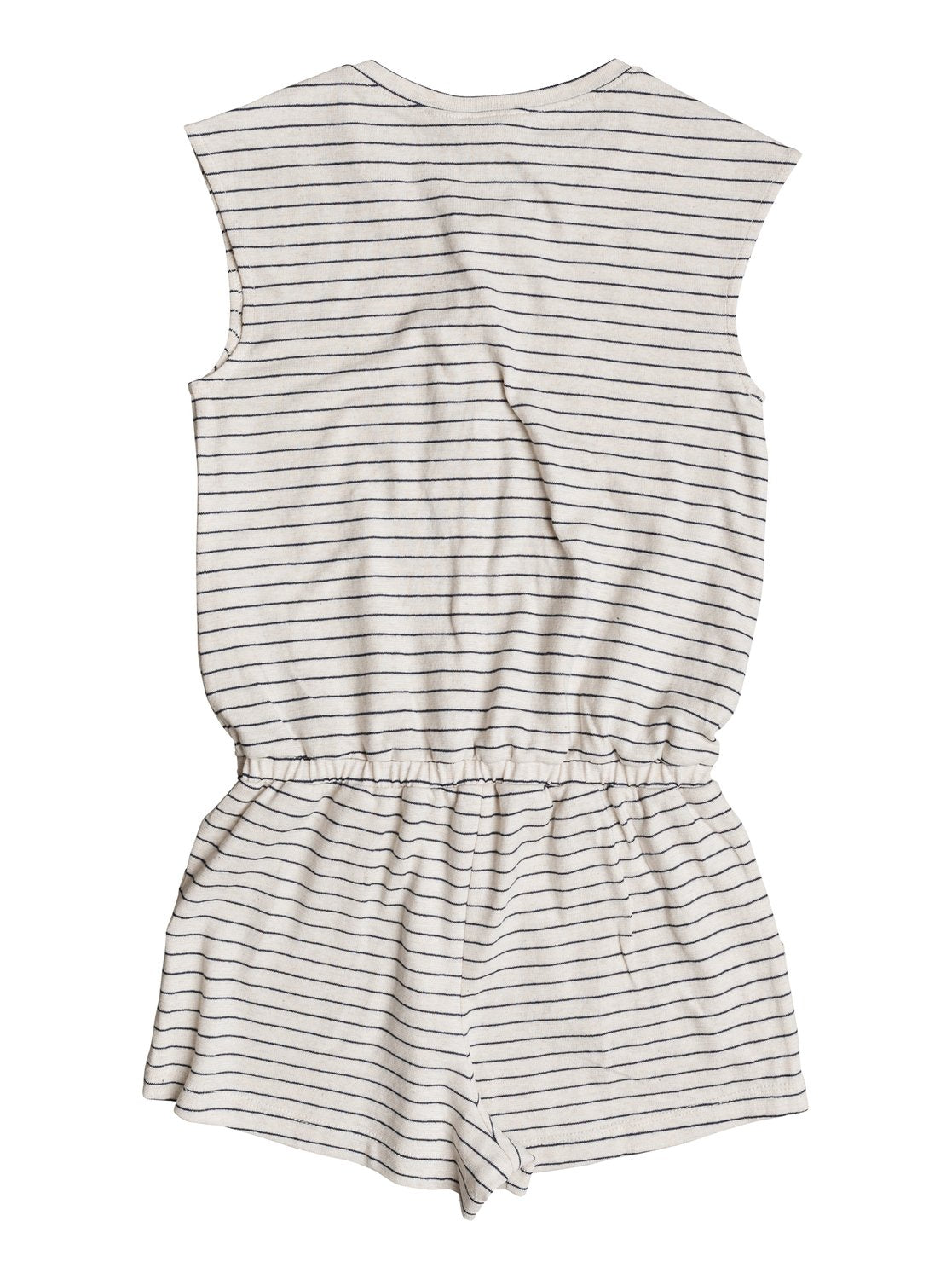 Roxy Girls Big Moments Romper In Metro Heather Thin Nautic Stripe