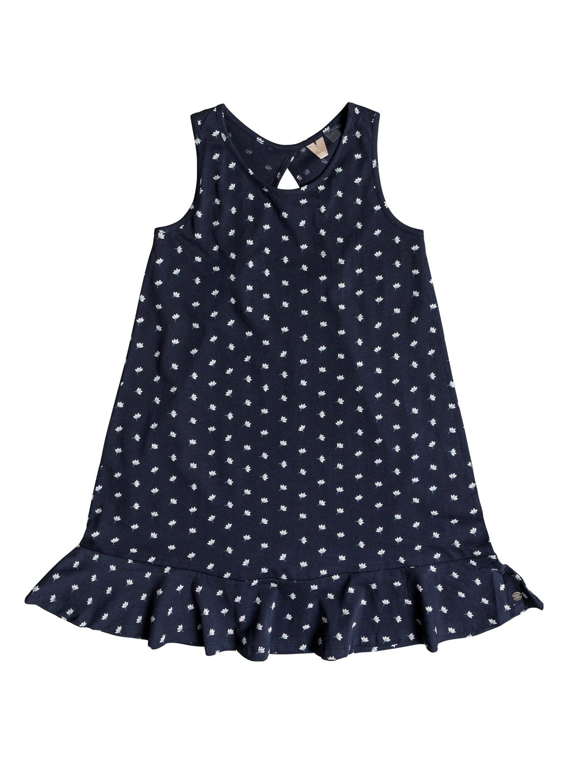 Roxy Girls Mission Bell Tank Dress In Dress Blue Flower Twist