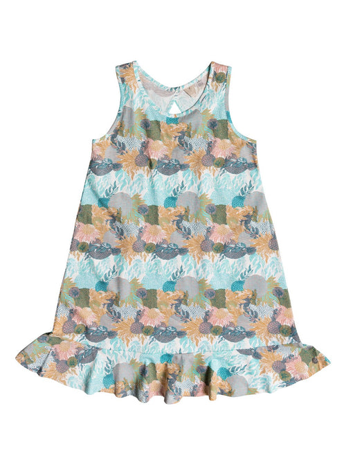 Roxy girls Mission Bell Tank Dress In Marshmallow High Tide Flower