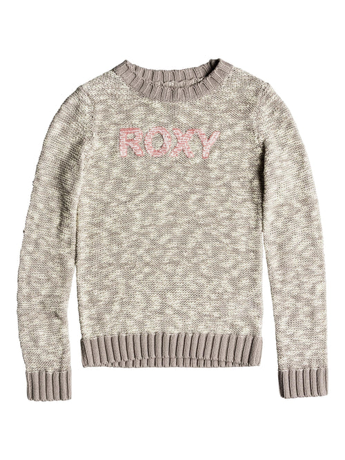Roxy Girls Blissful Memory Sweater in Heritage Heather