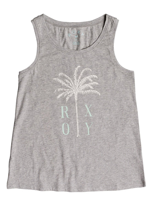 Roxy Girls Sitting There Tank Top In Heritage Heather