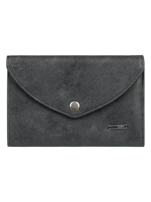 Roxy Ladies Stop Here Tri-Fold Wallet In Anthracite