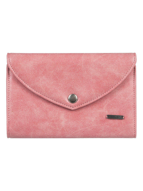Roxy Ladies Stop Here Tri-Fold Wallet In Lobster Bisque