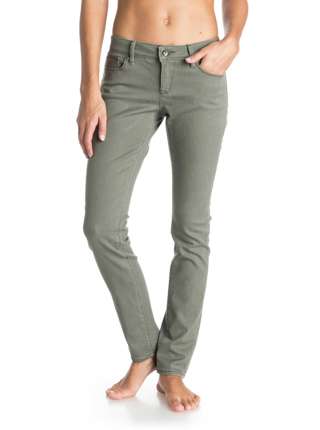 Roxy Ladies Suntrippers Colors Jeans Olive Green