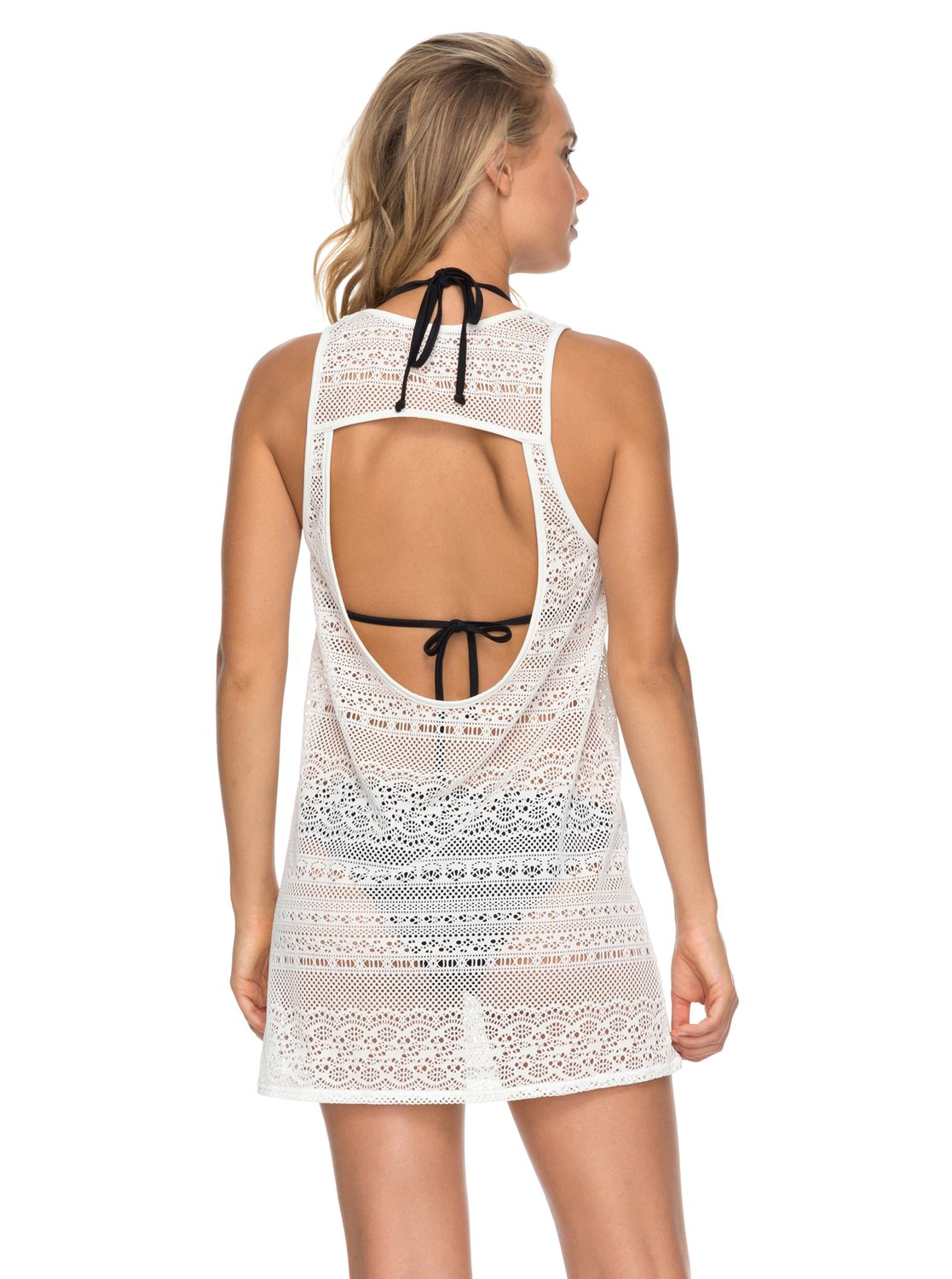 Roxy Ladies Surf Memory Crochet Cover Up In Marshmallow
