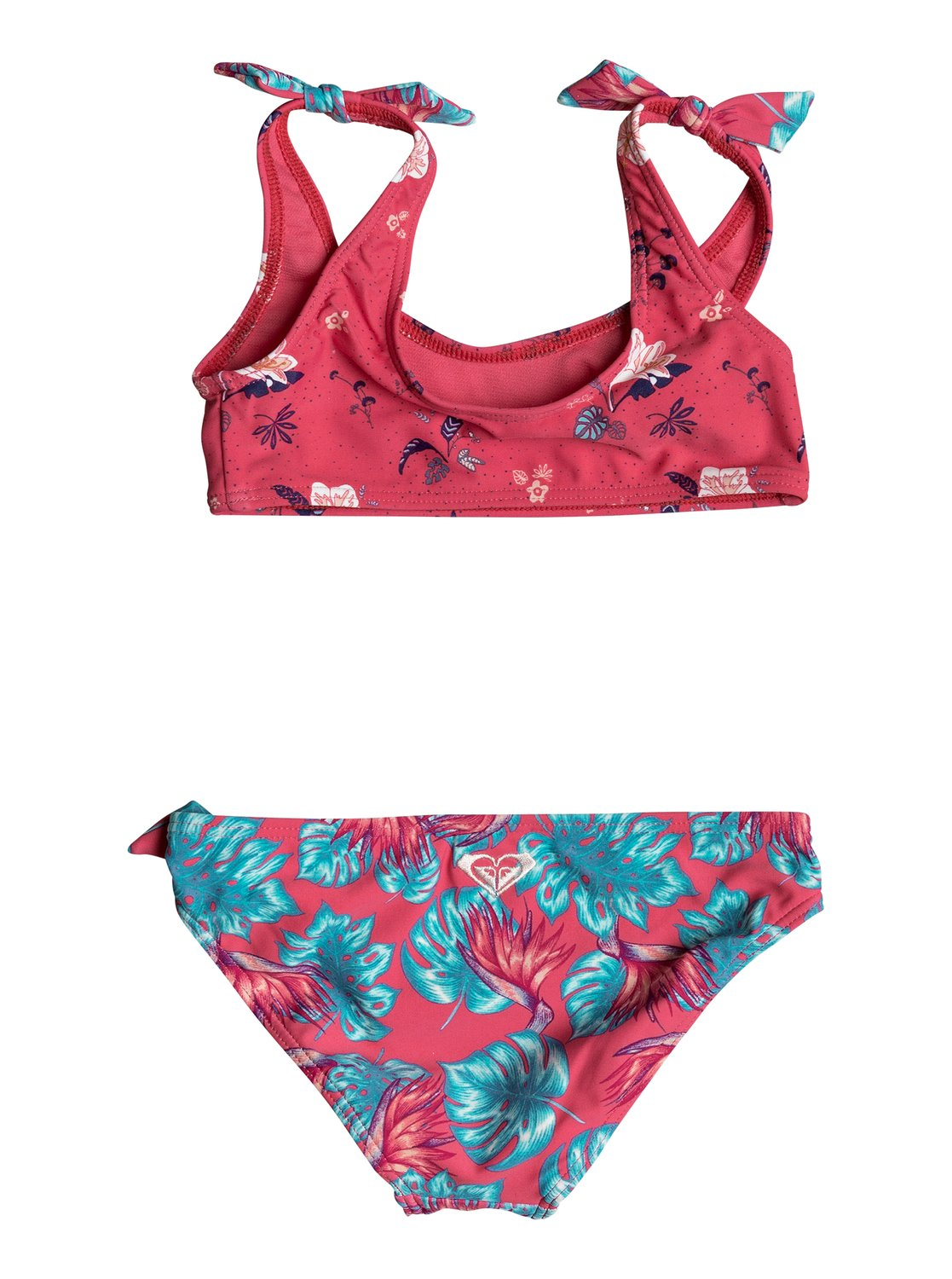 Roxy Girls Roxy Mermaid Athletic Bikini Set In Rouge Red Tropicool