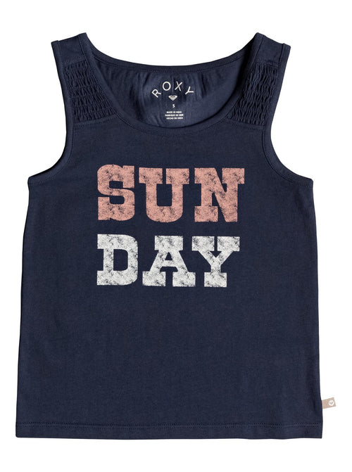 Roxy Girls Wayfaring Stranger Tank In Dress Blues