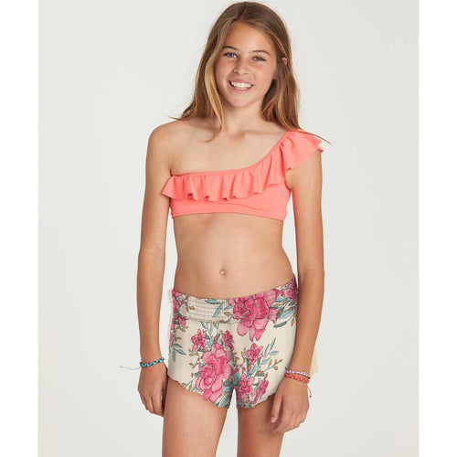 Billabong Girls Spinner Shorts In Multi
