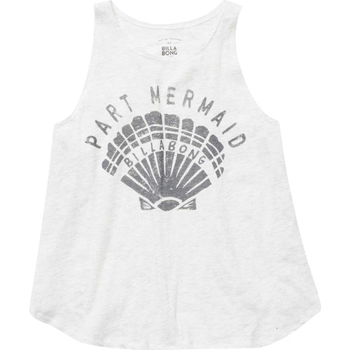 Billabong Girls Part Mermaid Shell Tank Top In Ice Athletic Grey