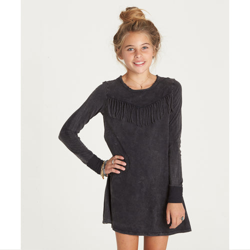Billabong Girls Wait Around Dress Off Black
