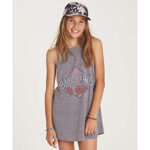 Billabong Girls Choose You Dress In Dark Athletic Grey
