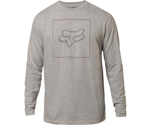 Fox Mens Chapped LS Tee Shirt In Light Heather Grey