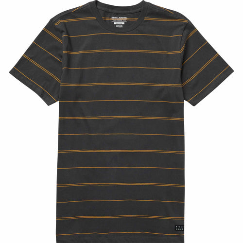 Billabong Boys Die Cut Stripe Short Sleeve Shirt in Asphalt