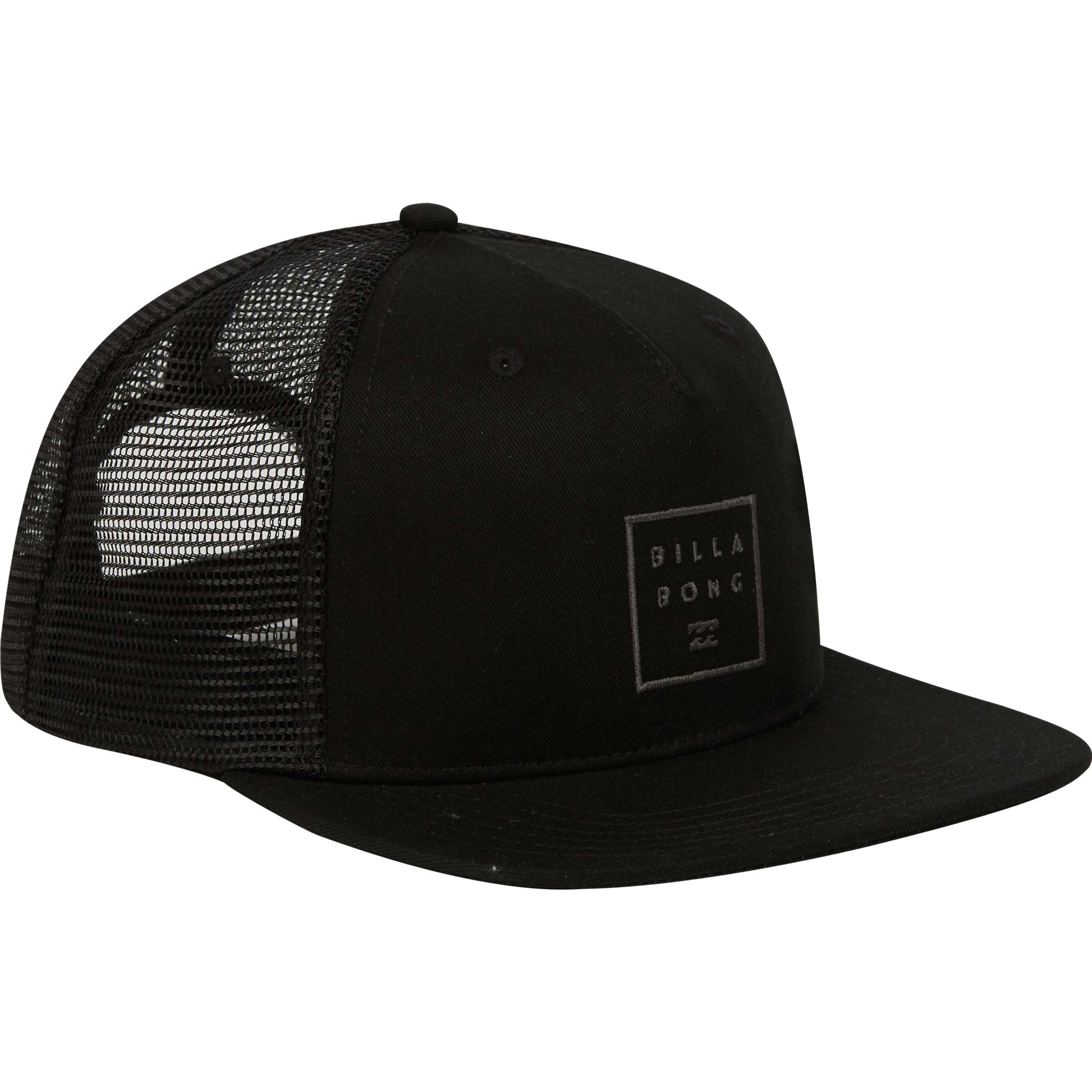 afa3f57c0a4 Billabong Mens Stacked Trucker Hat In Black – Current Apparel ...