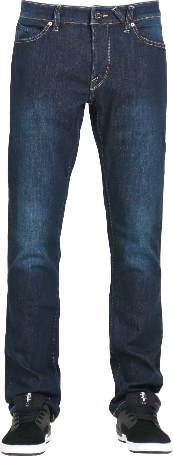 Volcom Mens Vorta Denim Used Blue