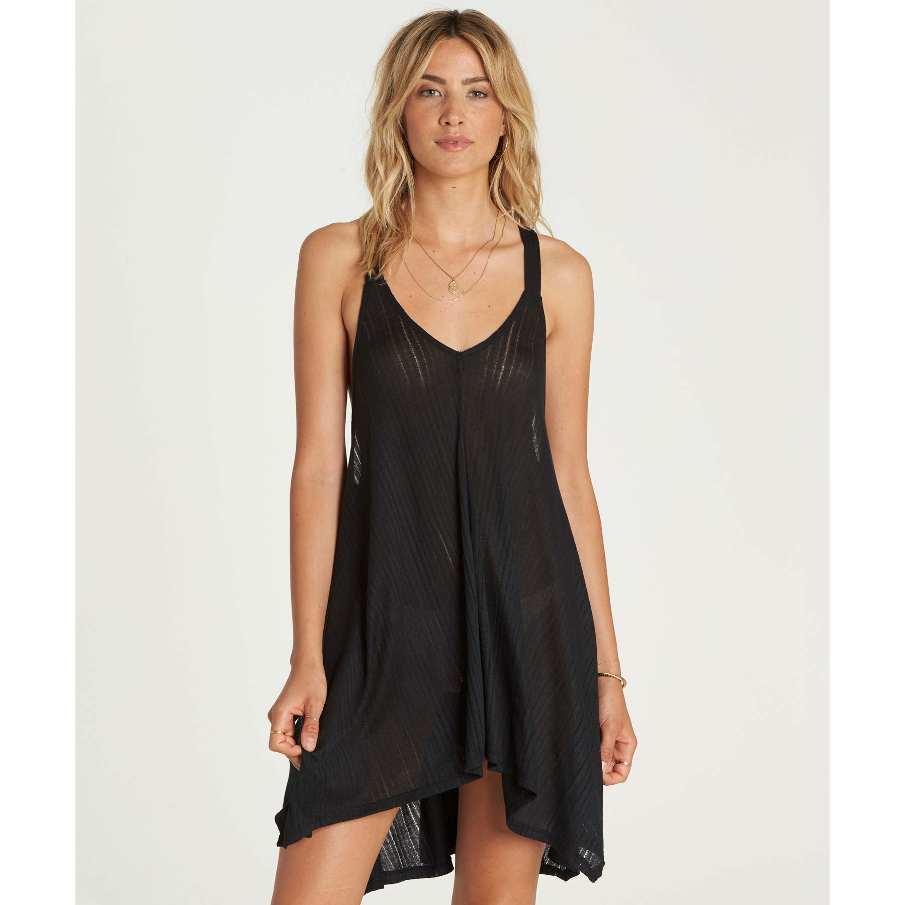 Billabong Ladies Twisted View Cover Up Dress In Black