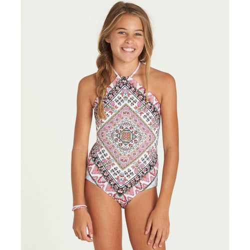 Billabong Girls Moon Tribe One Piece Bathingsuit In Multi