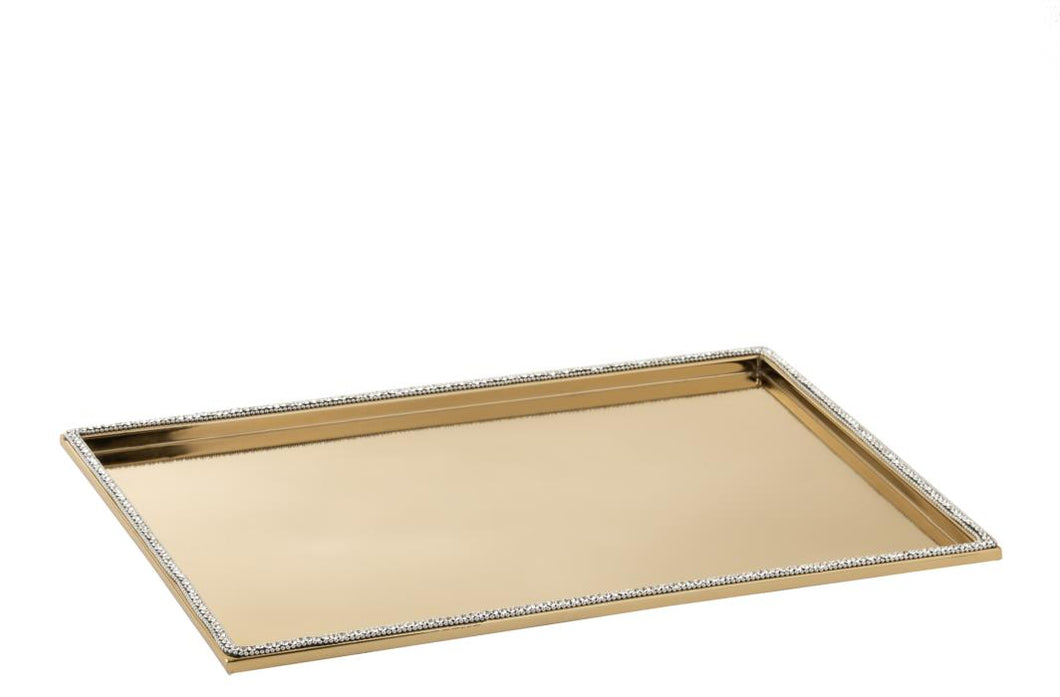 Large Gold Diamante Tray