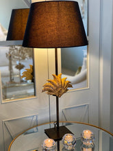 Load image into Gallery viewer, Lamp Base With Motif Sculpte No 6 - Black & Brass
