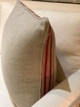 Load image into Gallery viewer, Linen Mulberry Stripe Cushion