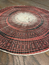 Load image into Gallery viewer, Red & Black Woven Round Placemat (38cm)