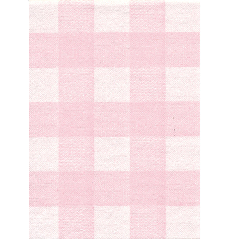 Rose Gingham Disposable Table Cloth