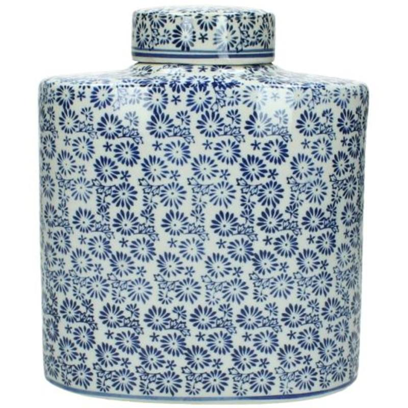 Blue & White Design Jar