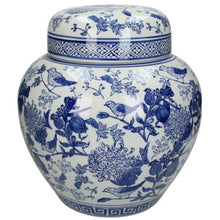 Load image into Gallery viewer, Lidded Jar - Blue & White