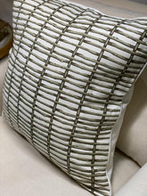 Load image into Gallery viewer, Twig Fence Printed Cushion - Celadon