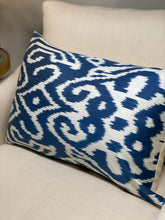 Load image into Gallery viewer, Lilah Ikat Cushion - Blue