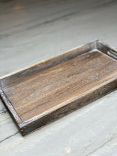 Load image into Gallery viewer, Grey Wash Rectangular Tray (36cm x 24cm)