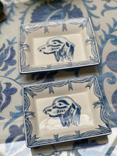 Load image into Gallery viewer, Blue Dog Portrait Trays (Set of 2)